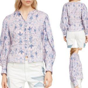 NWT $400 Isabel Marant Étoile Tilo Floral Shirt 40